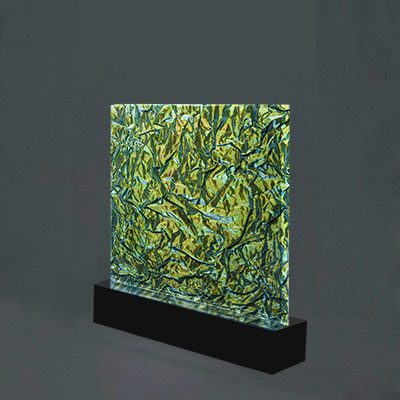 GREEN FABRIC IN ACRYLIC SHEET